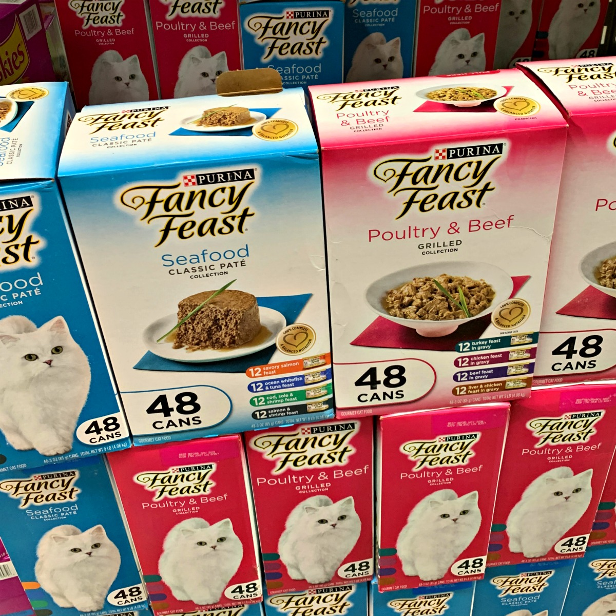 Purina Fancy Feast options at Sam's Club - pack of 48 cans