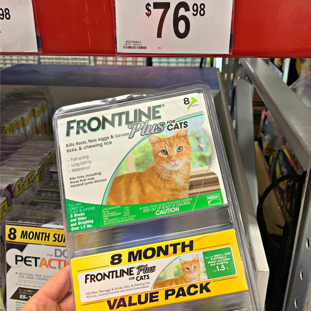 Frontline plus for cats product at Sam's Club